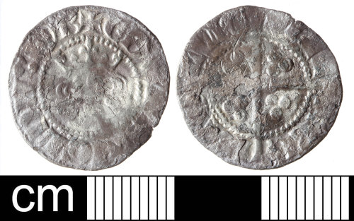 SOM-F9EB80: Medieval coin: silver penny of Edward I