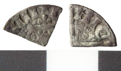 WILT-0AC927: medieval cut farthing of henry III