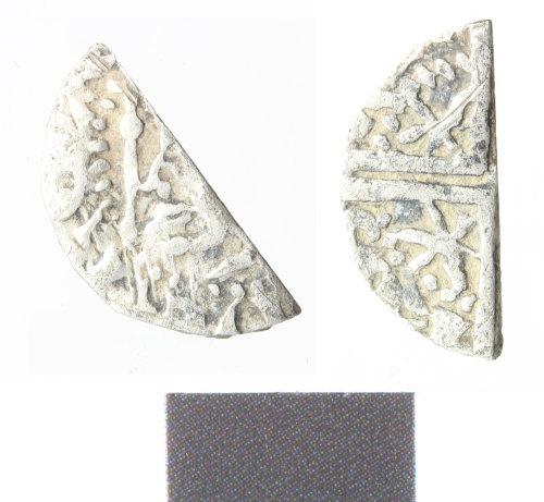 WILT-0B69B8: Medieval silver scottish cut halfpenny of Alexander III