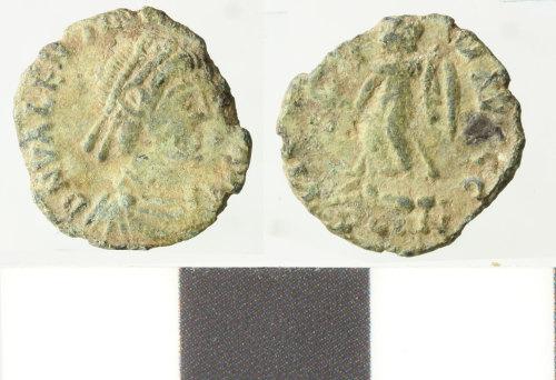 WILT-35E5BE: Roman copper alloy nummus, valentinian II
