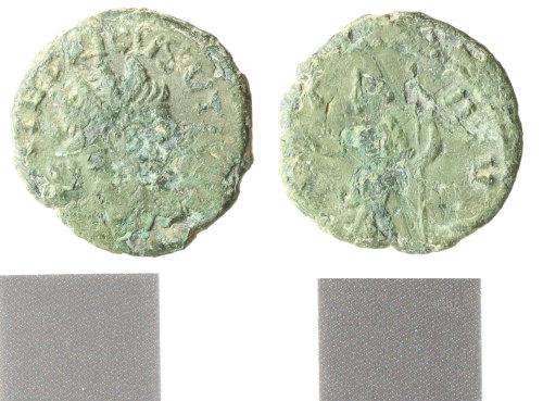 WILT-3935BE: Roman copper alloy radiate, tetricus I