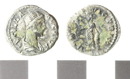 WILT-7AFEA2: Roman silver plated copy of a denarius, Lucilla