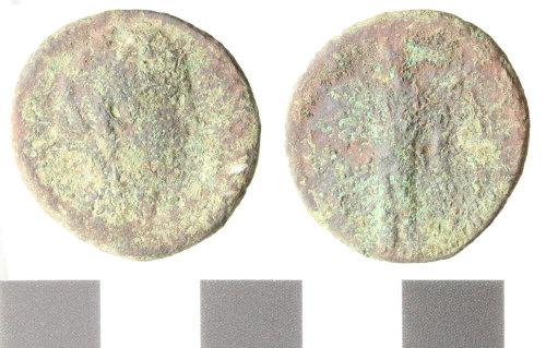 WILT-7B4088: Roman copper alloy dupondius or As of Faustina
