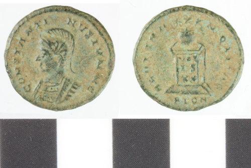WILT-8AD785: Roman copper alloy nummus, constantius II