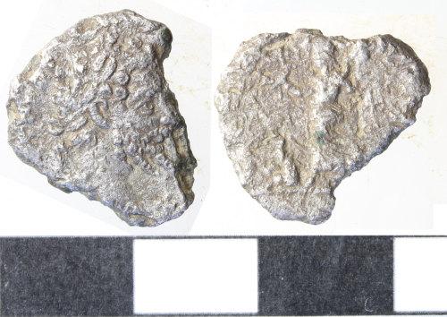 WILT-B9BBC6: roman coin: incomplete denarius of Septimus Severus