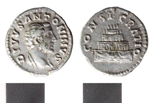 WILT-F6161F: Roman Silver denarius of Antoninus Pius, issued posthumously
