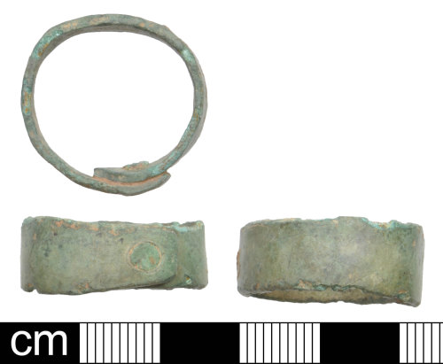 DEV-136FFC: Iron Age to Roman Copper alloy Ferrule