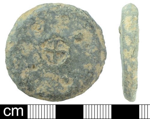 DEV-555D42: Medieval to Post-Medieval Lead weight