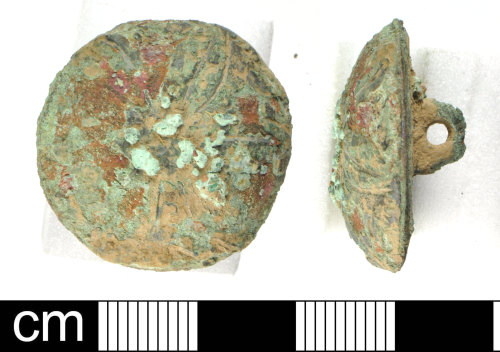 DEV-5AF815: Post-Medieval copper alloy button