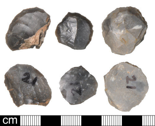 DEV-5FD6D3: Late neolithic to Bronze age flint scrapers