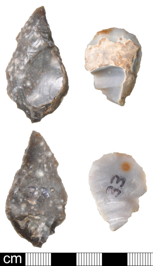 DEV-60B248: Late Neolithic to Bronze Age flint scrapers