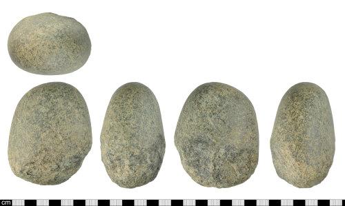 DEV-6DEA2A: Prehistoric greenstone hammerstone