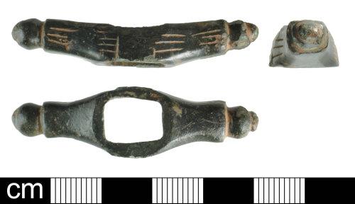 DEV-6E0DDF: Medieval copper alloy possible quillon guard