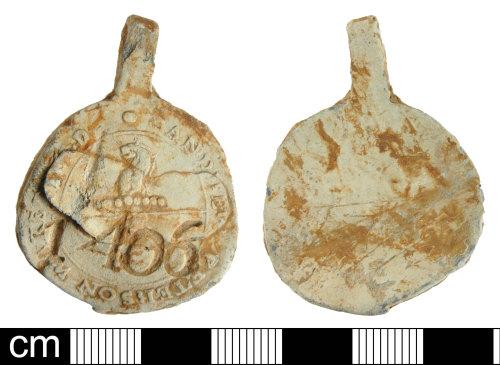 DEV-80309C: Post-Medieval lead 2-part cloth seal