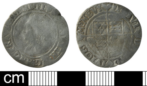 DEV-83A7BF: Post-Medieval coin: silver groat of Elizabeth I
