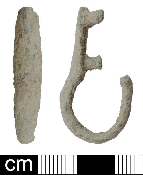 DEV-87E2A2: A Medieval copper alloy strap fitting