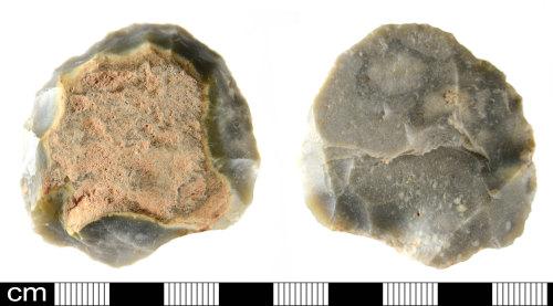 DEV-88E92D: Prehistoric flint scraper
