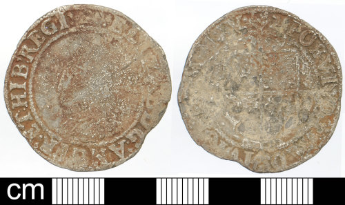 DEV-8C944A: Post-Medieval Silver coin: shilling of Elizabeth I