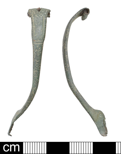 DEV-A56EE6: Iron age to Roman strip bow brooch