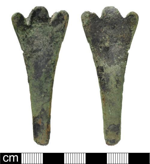 DEV-A60EA6: Post-Medieval copper alloy spoon handle