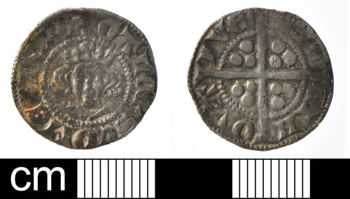 DEV-C4B7AD: Medieval coin: continental sterling imitation of Gaucher of Porcien
