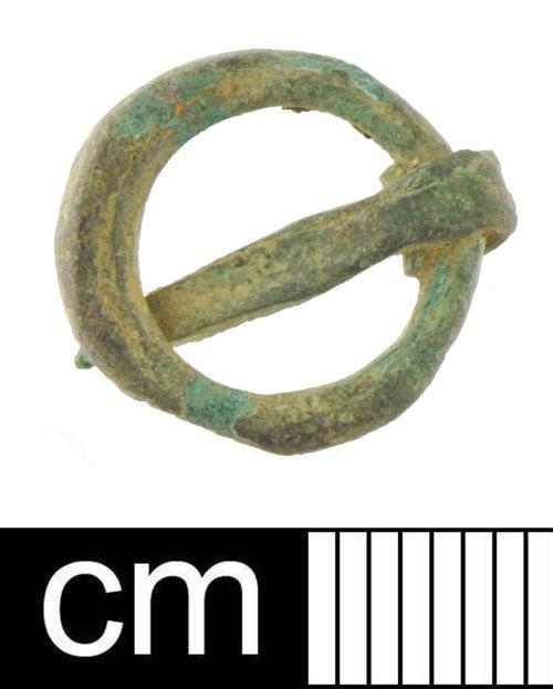 DEV-C4C02B: Medieval copper alloy buckle