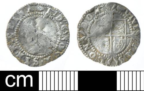DEV-C6AB66: Post-Medieval coin: Silver halfgroat of Elizabeth I