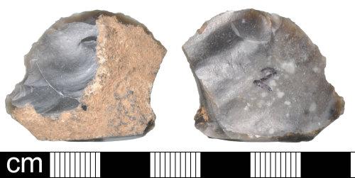 DEV-CC5126: Late Neolithic flint scraper