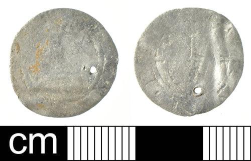 DEV-F5B8B2: Post-Medieval coin: small silver denomination of Elizabeth I