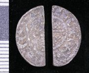 A resized image of Medieval silver cut halfpenny