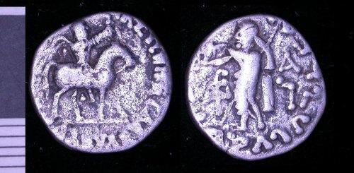 LEIC-05F343: Indo-Scythian drachm of Azes II.