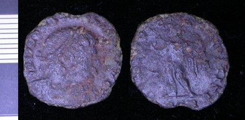 LEIC-12D534: Roman copper alloy nummus of Constantine I