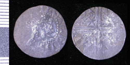 LEIC-138734: Medieval Scotiish Silver penny of Alexander III