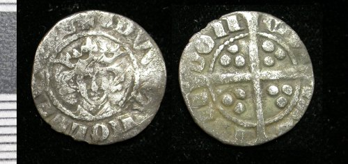 LEIC-181064: Medieval silver penny of Edward I