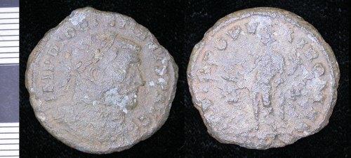 LEIC-1FAC08: 1FAC08 late roman nummus of Diocletian