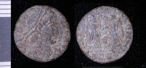 LEIC-262046: Roman copper alloy nummus of Constans