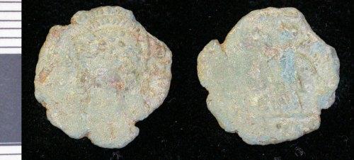 LEIC-340162: Roman copper alloy Nummus