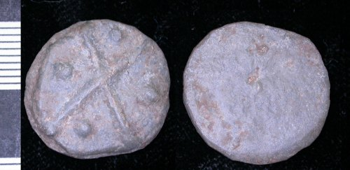 LEIC-41C6C7: Medieval lead alloy token