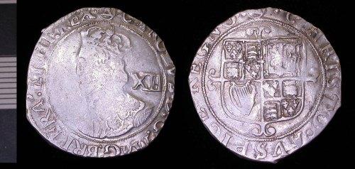 LEIC-589F61: charles I silver shilling