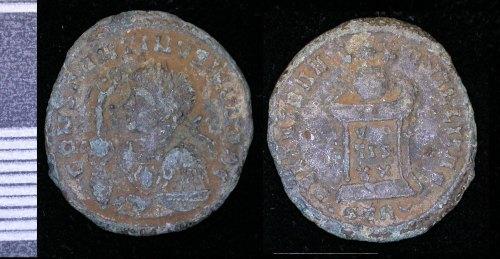LEIC-5AC602: Roman copper alloy nummus of Constantine II