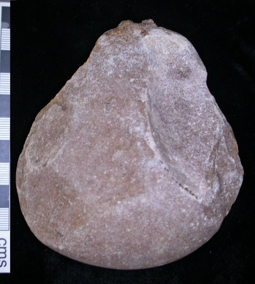 LEIC-69B497: Lower paleolithic quartzite hand axe