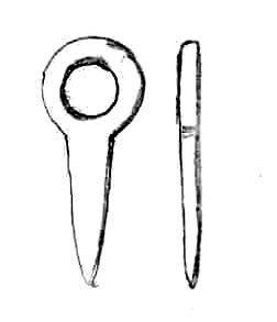 LEIC-7167E1: 7167E1 Roman copper alloy pendant