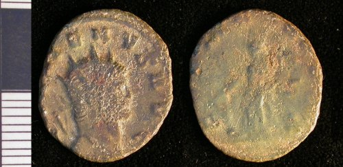LEIC-756FB3: 756FB3 Roman copper alloy coin