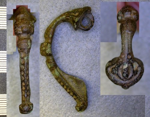 LEIC-931943: Roman copper alloy trumpet brooch