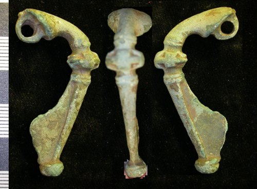 A resized image of Roman copper alloy trumpet brooch