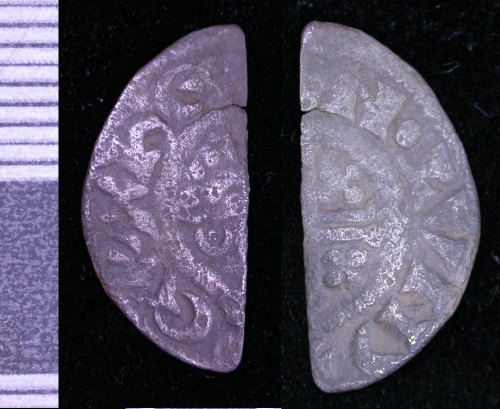 A resized image of Medieval short cross cut halfpenny