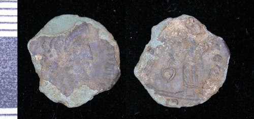 LEIC-AA8D57: Roman copper alloy nummus of Constans