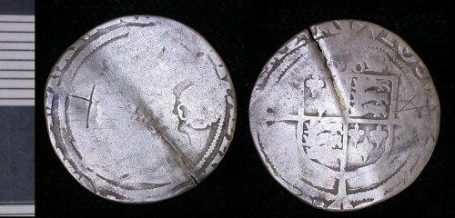 LEIC-B4E620: B4E620 Post Medieval silver coin of Elizabeth I