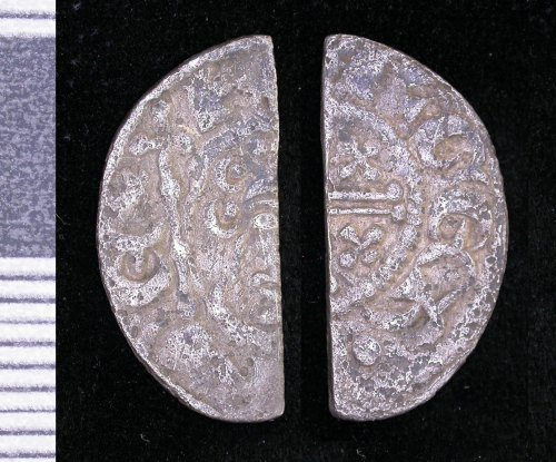 LEIC-BEC2A8: Medieval silver cut halfpenny