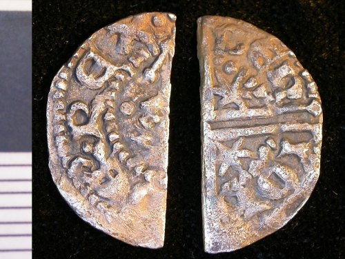 LEIC-BF3BD5: Medieval silver scottish longcross halfpenny